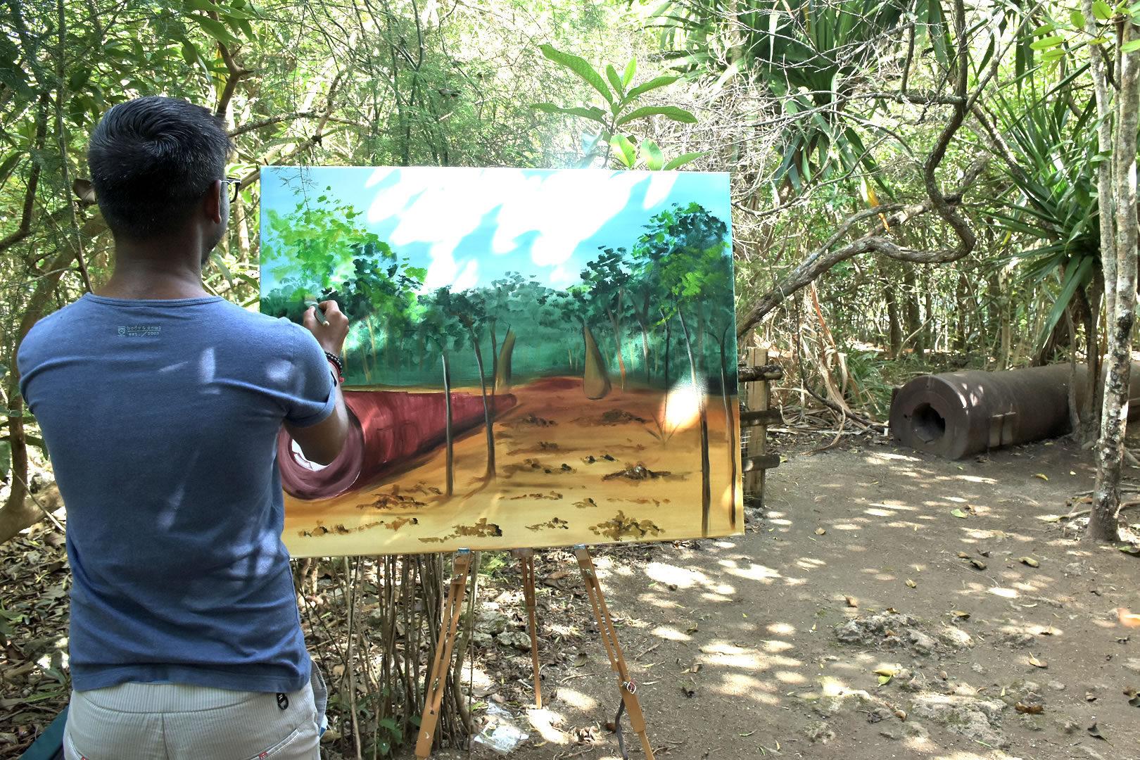 «Défi Vert – Plein Air» s'est terminée à l'île-aux-Aigrettes par une compétition de peintures